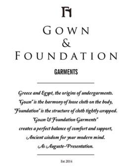AUGUSTE-PRESENTATION GOWN&FOUNDATION GARMENTS